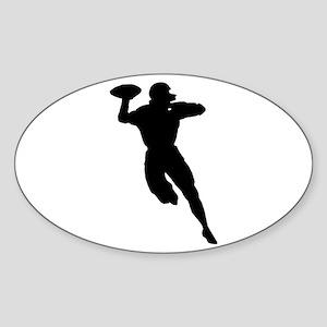 Football Player Oval Sticker