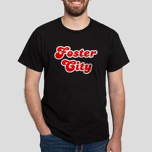 Retro Foster City (Red) Dark T-Shirt
