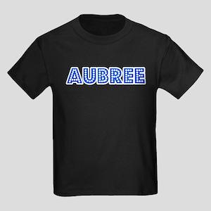 Retro Aubree (Blue) Kids Dark T-Shirt