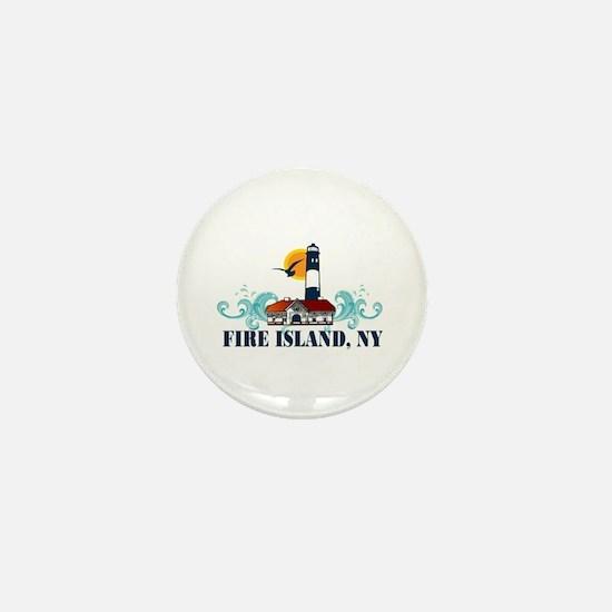 Fire Island Mini Button