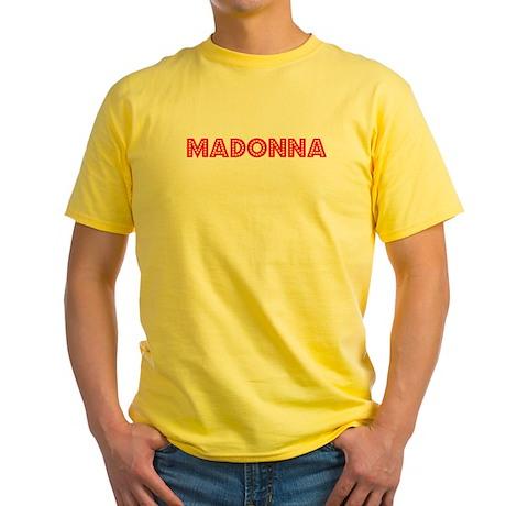 Retro Madonna (Red) Yellow T-Shirt