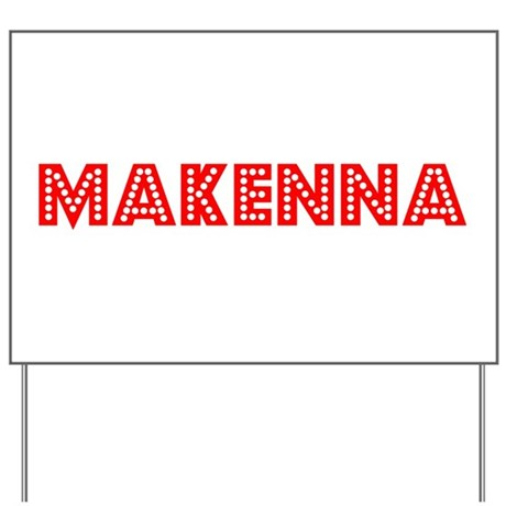 Retro Makenna (Red) Yard Sign
