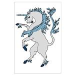 Heraldic Unicorn Large Poster