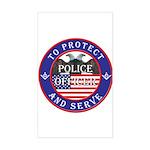 Mason Police Officer Rectangle Sticker