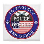 Mason Police Officer Tile Coaster