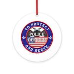 Mason Police Officer Ornament (Round)