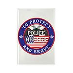 Mason Police Officer Rectangle Magnet