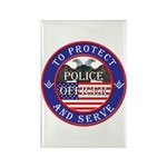 Mason Police Officer Rectangle Magnet (10 pack)