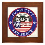 Mason Police Officer Framed Tile