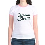 The Koran Lies Jr. Ringer T-Shirt