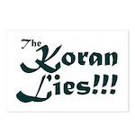 The Koran Lies Postcards (Package of 8)