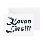 The Koran Lies Greeting Cards (Pk of 10)