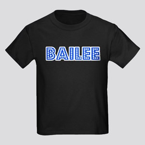 Retro Bailee (Blue) Kids Dark T-Shirt
