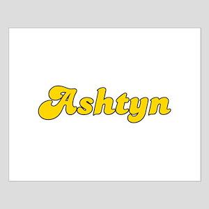 Retro Ashtyn (Gold) Small Poster