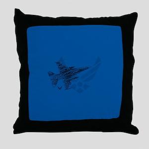 Air Force Logo Jet Throw Pillow