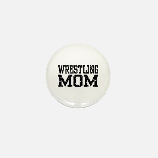 Wrestling Mom Mini Button