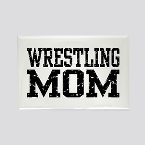 Wrestling Mom Rectangle Magnet