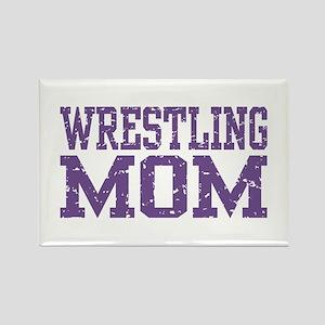 Wrestling Mom Rectangle Magnet