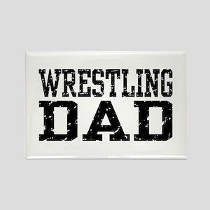 Wrestling Dad Rectangle Magnet