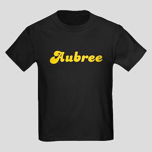 Retro Aubree (Gold) Kids Dark T-Shirt