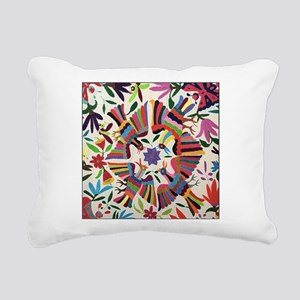 Otomi Birds Rectangular Canvas Pillow