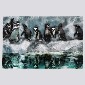 Penguins on ice 4' x 6' Rug