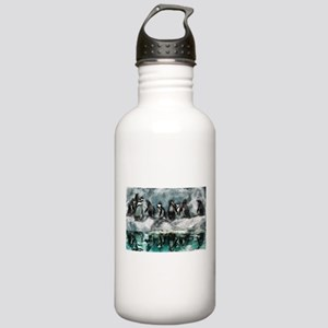 Penguins on ice Stainless Water Bottle 1.0L