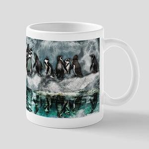 Penguins on ice Mugs