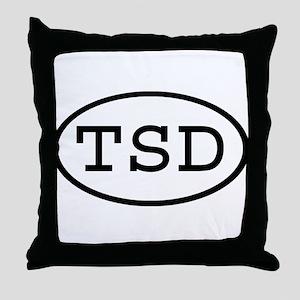 TSD Oval Throw Pillow