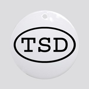 TSD Oval Ornament (Round)