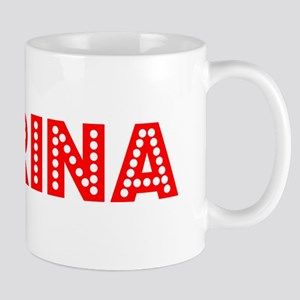 Retro Marina (Red) Mug