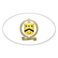 ALLARD Family Crest Oval Decal