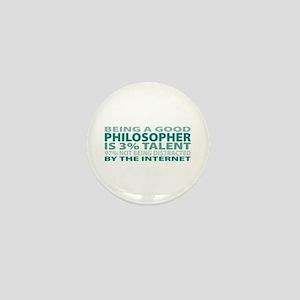 Good Philosopher Mini Button