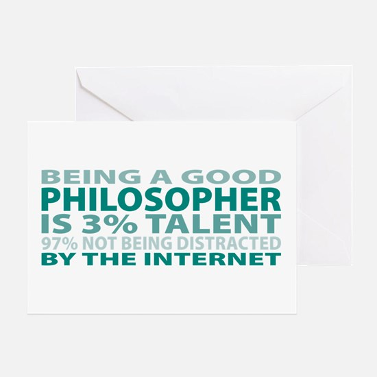 Good Philosopher Greeting Card