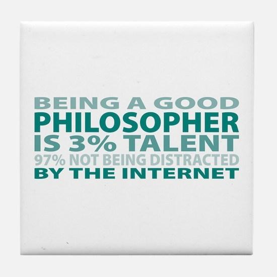 Good Philosopher Tile Coaster