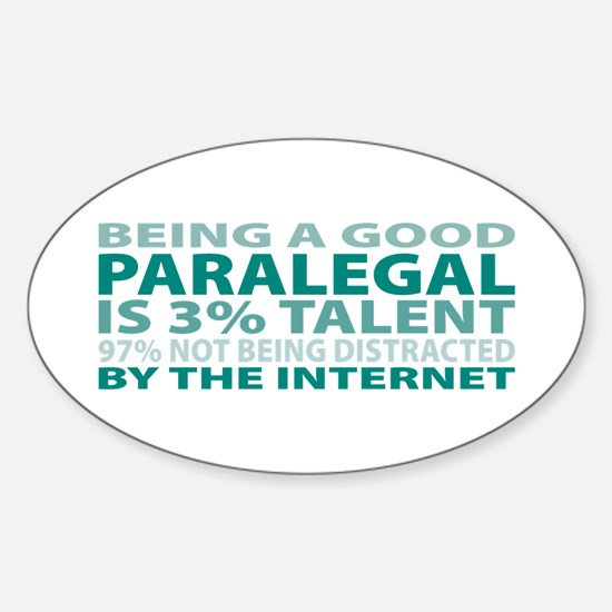 Good Paralegal Oval Decal