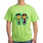 Sock Hop Kids Green T-Shirt