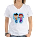 Sock Hop Kids Women's V-Neck T-Shirt