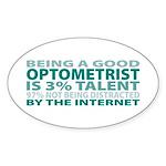 Good Optometrist Oval Sticker