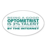 Good Optometrist Oval Sticker (10 pk)