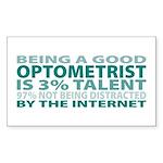 Good Optometrist Rectangle Sticker 10 pk)