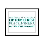 Good Optometrist Framed Panel Print