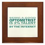 Good Optometrist Framed Tile