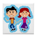 Sock Hop Kids Tile Coaster