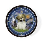 Starry Night / Shih Tzu Puppy Wall Clock