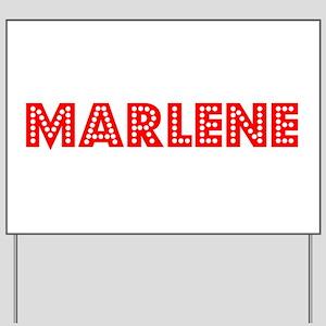 Retro Marlene (Red) Yard Sign