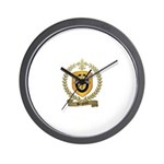 BERGERON Family Crest Wall Clock