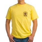 BERGERON Family Crest Yellow T-Shirt