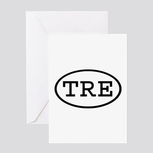 TRE Oval Greeting Card