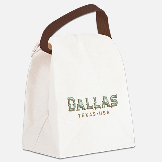 Retro Dallas Canvas Lunch Bag